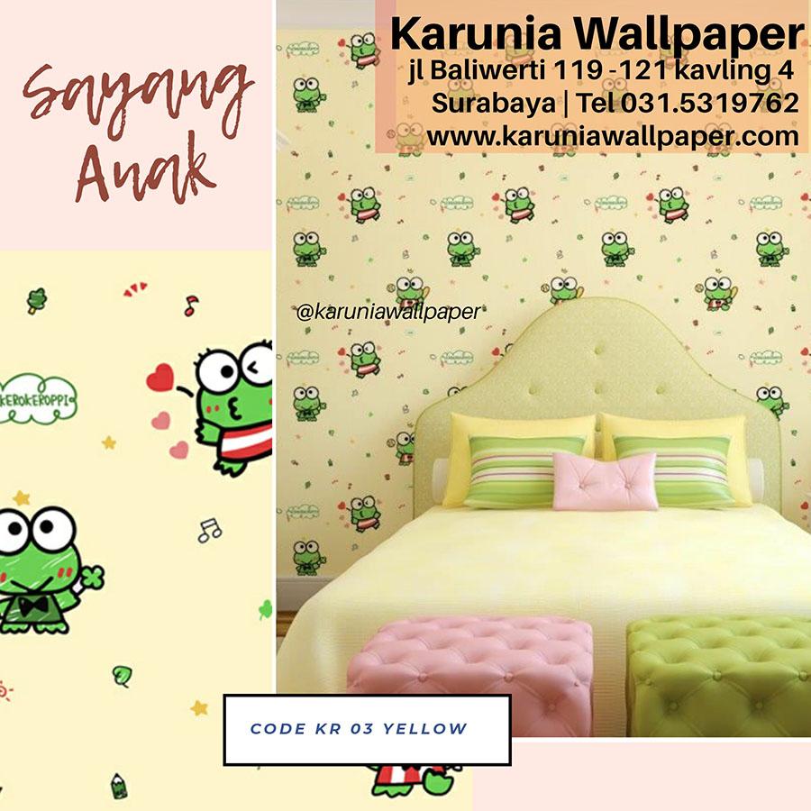 toko jual wallpaper dinding kamar kero keroppi