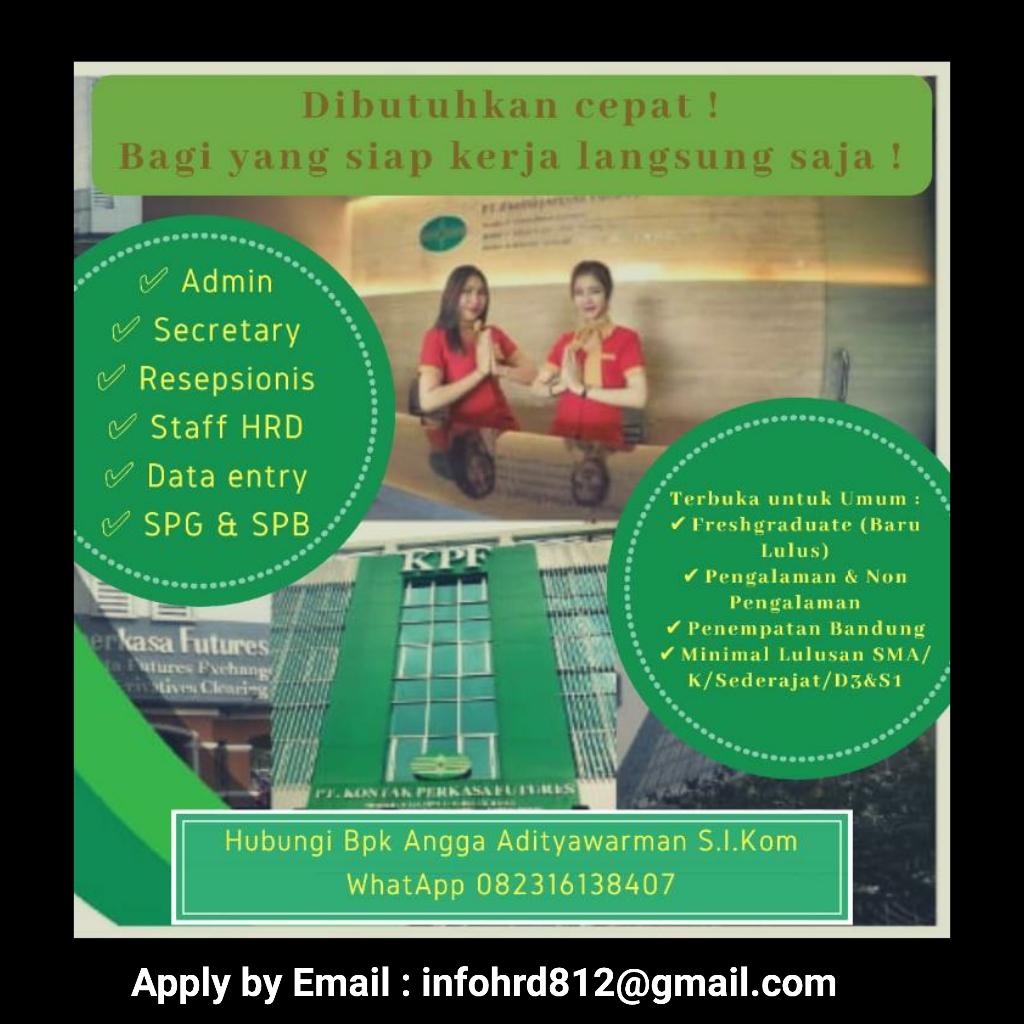 Lowongan Kerja PT. Kontak Perkasa Futures Bandung November 2019