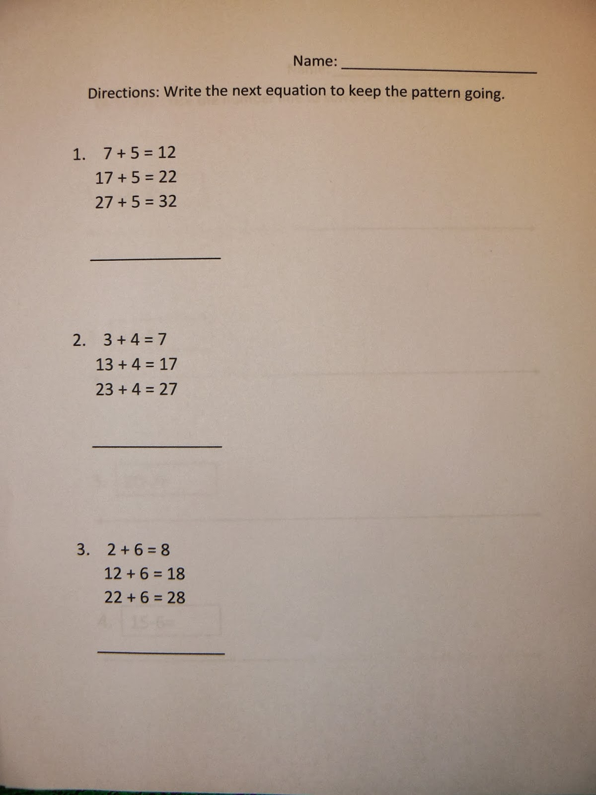 Mrs T S First Grade Class Math Practice Worksheets