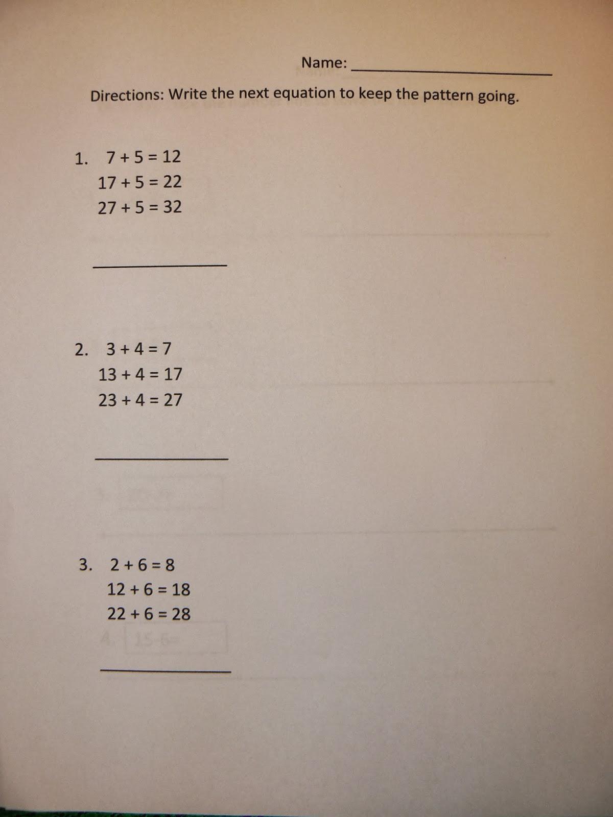 Adding Patterns By 10