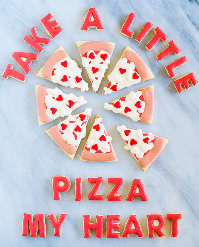 Take a Little Pizza My Heart Valentine Cookies