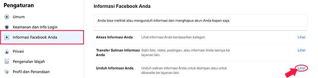 Cara Mengembalikan Postingan FB Yang Terhapus Dengan Backup Data Lewat PC