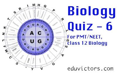 Biology Quiz - 6 (#NEET)(#premedical)(#AIPMT)(#class12Biology)(#eduvictors)(#class11Biology)