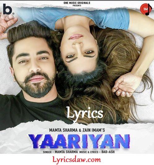Yaariyan Lyrics In Hindi Mamta Sharma
