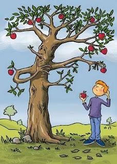 Cerita Pendek Anak Tiga Bahasa (Indonesia-Sunda-Inggris) Kisah Pohon Apel-Carita Tangkal Apel-The Story of Apple Tree