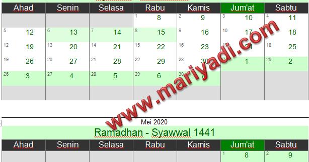Puasa Sunnah Kalender Puasa 2021 Pdf