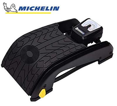 MICHELIN Analogue Double Barrel Foot Pump Designed for Convenience and Portability