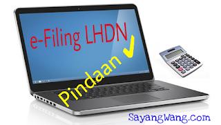 Pindaan e-filing LHDN