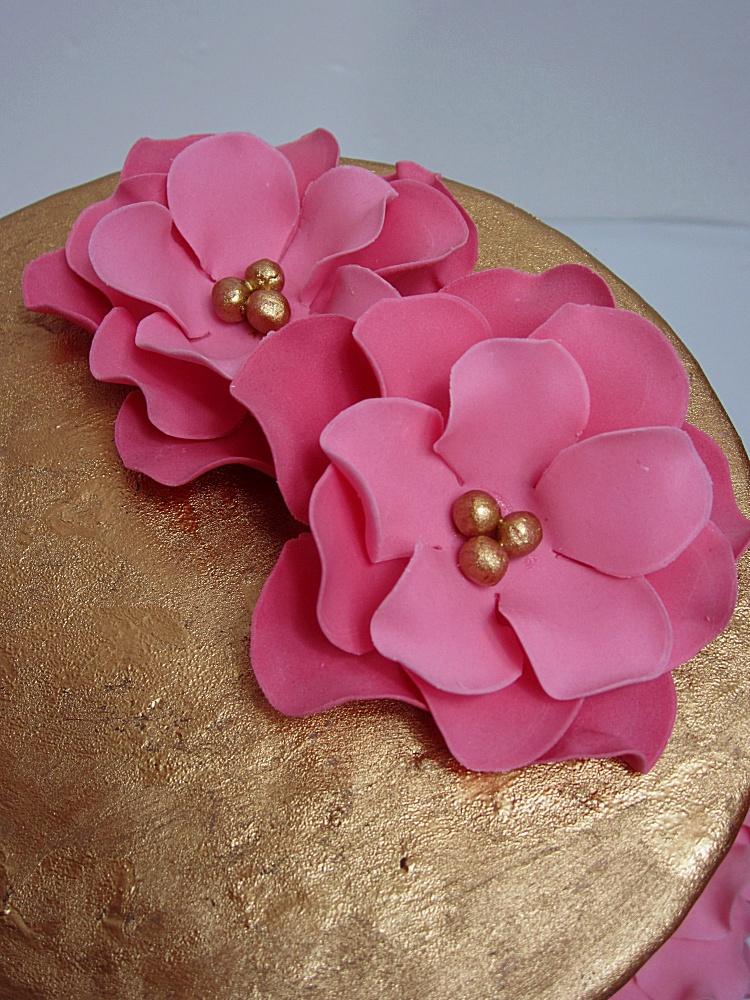 DIY/Tutprial Petal Cake/Blütentorte/Torte mit Blütenblättern 2