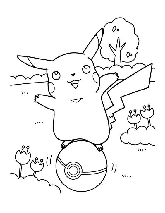 Tranh tô màu Pokemon 16