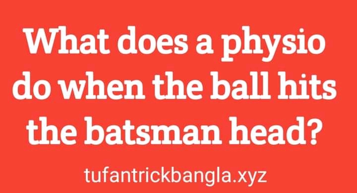 What does a physio do when the ball hits the batsman head?