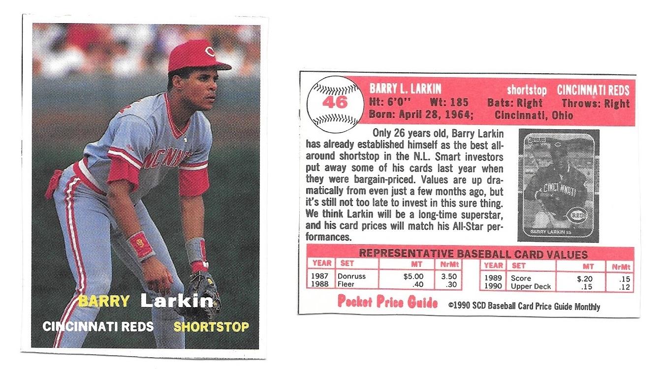 Nachos Grande Barry Larkin Collection 539 1990 Scd Baseball Card