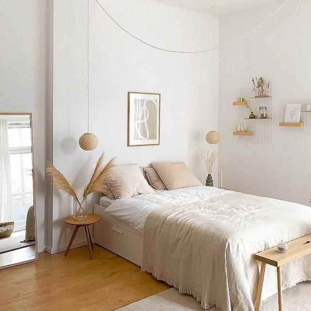 Desain Kamar Tidur Sederhana Nuansa Putih Cerah