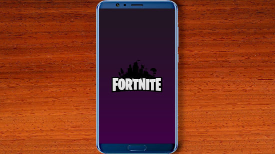 Fortnite Battle Royale - Logo Avec Un Fond Violet - FHD pour Mobile