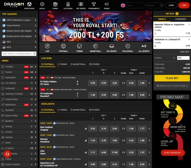 DragonClub Bets