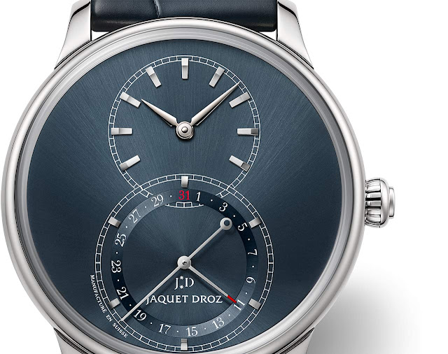 Jaquet Droz Grande Seconde Quantième Satin-brushed Blue J007010244