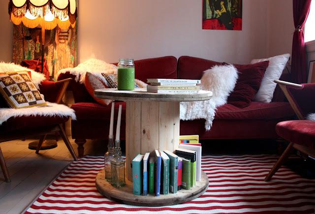 Bobina de cables convertida en mesa de centro decorar tu for Foro de decoracion facilisimo