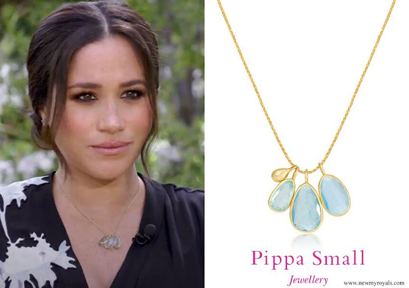 Meghan Markle wore Pippa Small Colette Necklace