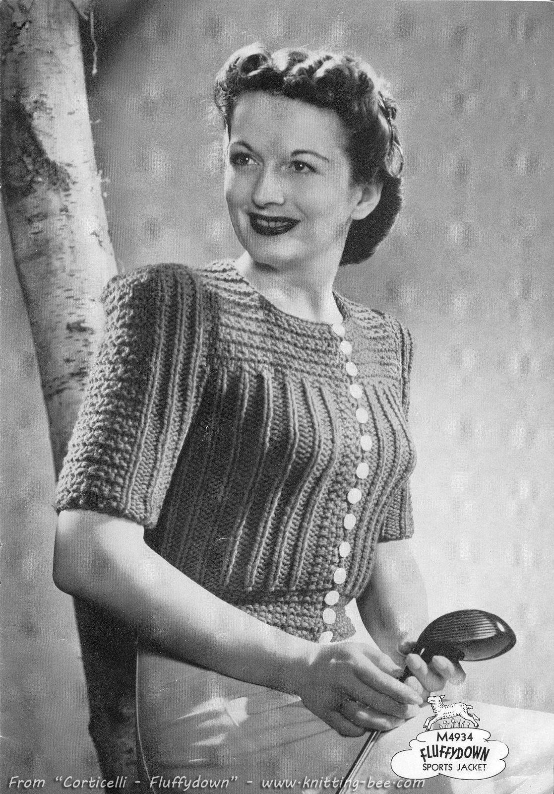 The Vintage Pattern Files - Free 1940 s Knitting Pattern - Womens Sports  Jacket f46dc93ab