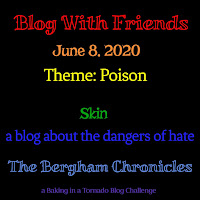 Blog With Friends, a multi-blogger project based post incorporating a theme, Name Your Poison   Skin by Jules of The Bergham Chronicles   Featured on www.BakingInATornado.com