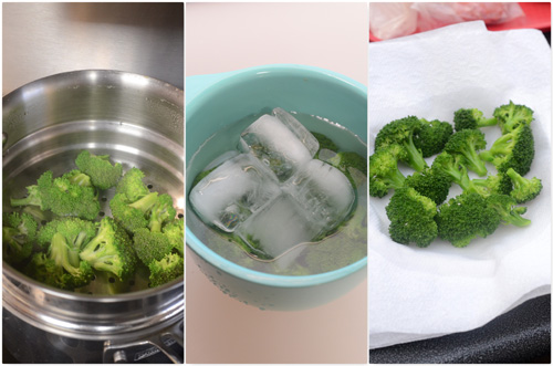 Parboiling or steaming your vegetables before stir frying results in bright color and firmer textuers.