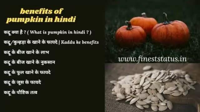 कद्दू के खाने के फायदे क्या है | Kaddu Ke Benefits