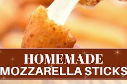 Homemade Mozzarella Sticks with Marinara Sauce
