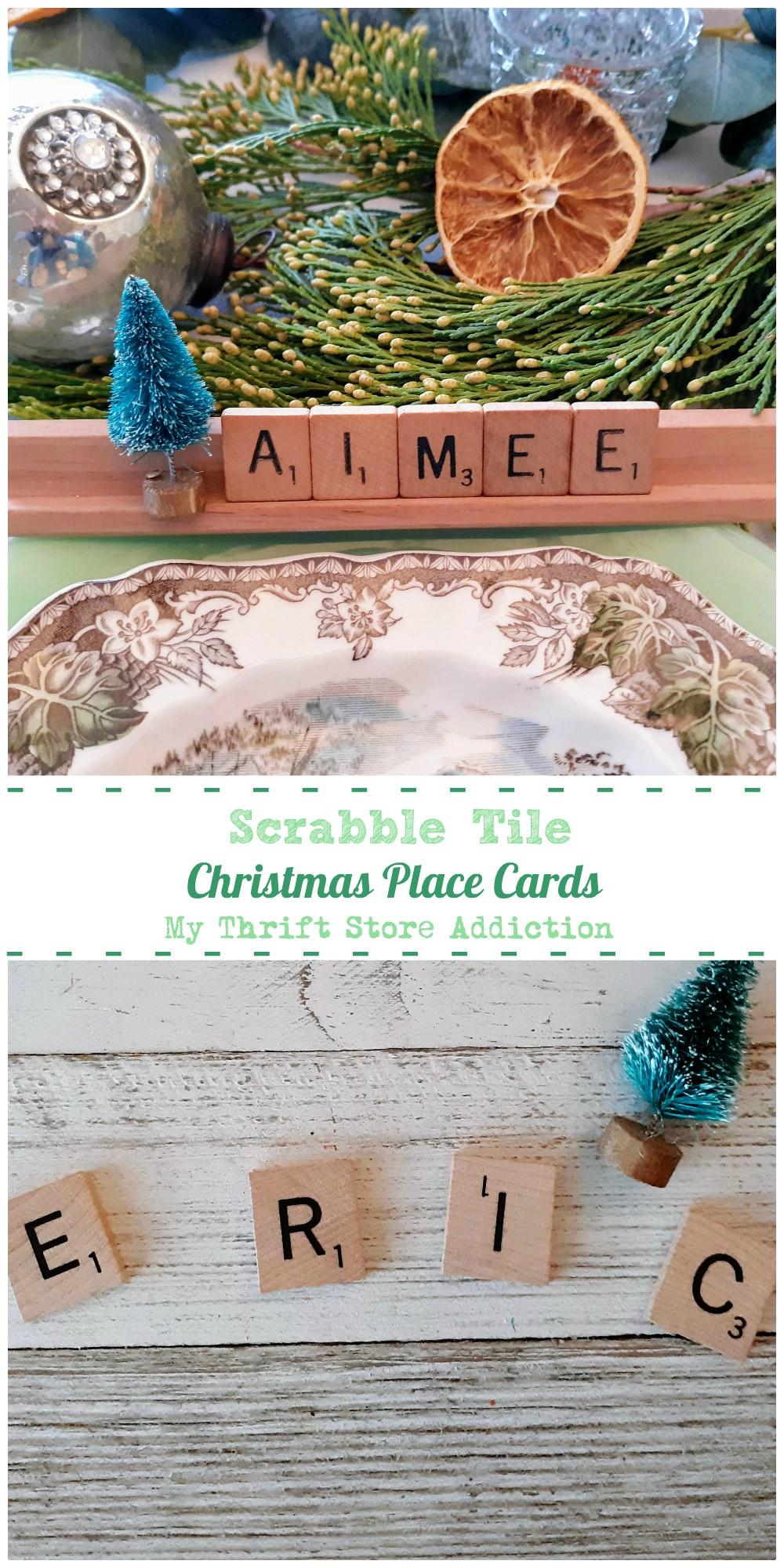 Scrabble Tile Place Cards