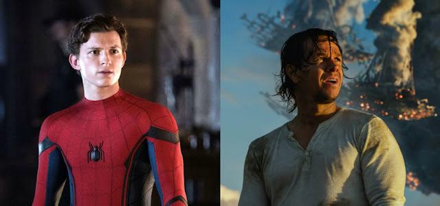 'Uncharted': Veja Tom Holland e Mark Wahlberg nas primeiras fotos dos bastidores
