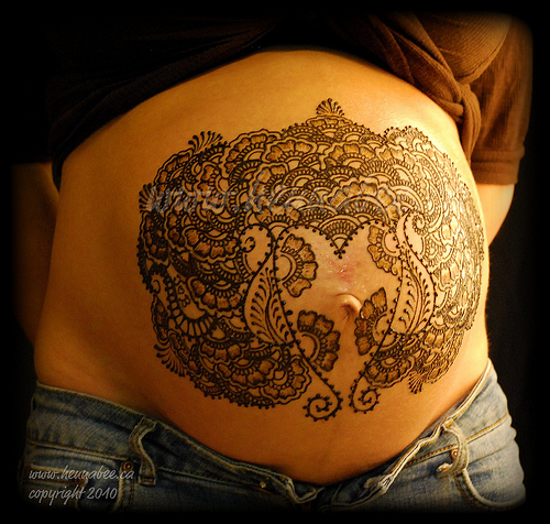 Lets Get Inked Girls: Heena Tattoos For Pregnant Woman