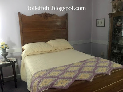 High back oak bed https://jollettetc.blogspot.com