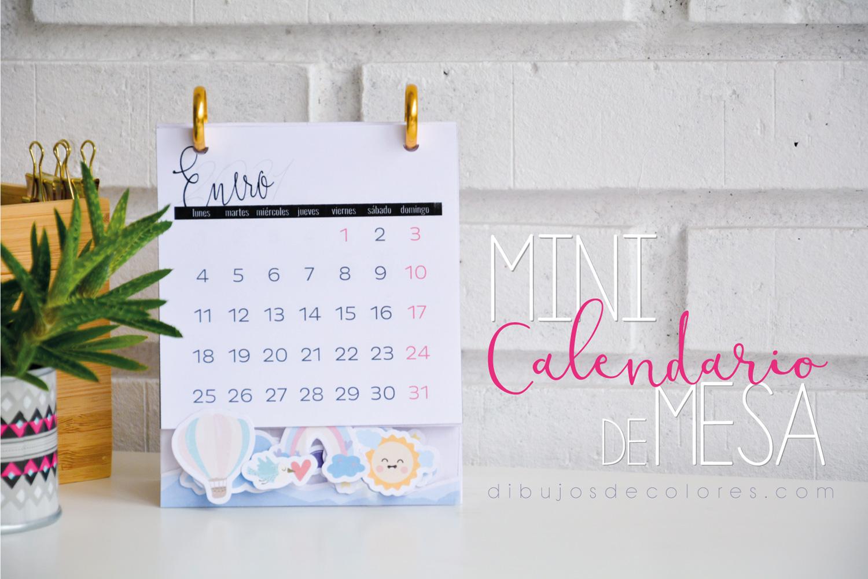 Mini calendario de mesa
