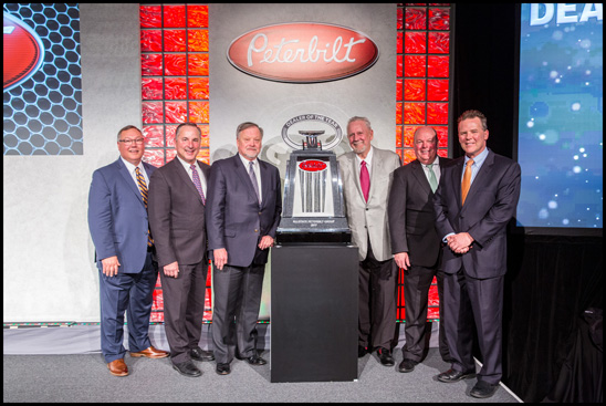 From Left to Right: Robert Woodall - Peterbilt Assistant General Manager - Sales and marketing; Kyle Quinn - Peterbilt General Manager; Jeff Vanthournout - President - Allstate Peterbilt Group; Don Larson - Chairman - Allstate Peterbilt Group; Peyton Harrell - Peterbilt Director of Dealer Development; Leon Handt - Peterbilt Assistant General Manager - Operations