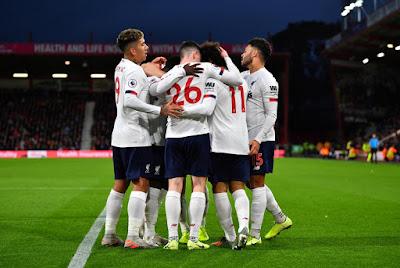 Video Cuplikan Gol: Bournemouth 0-3 Liverpool (Premier League)