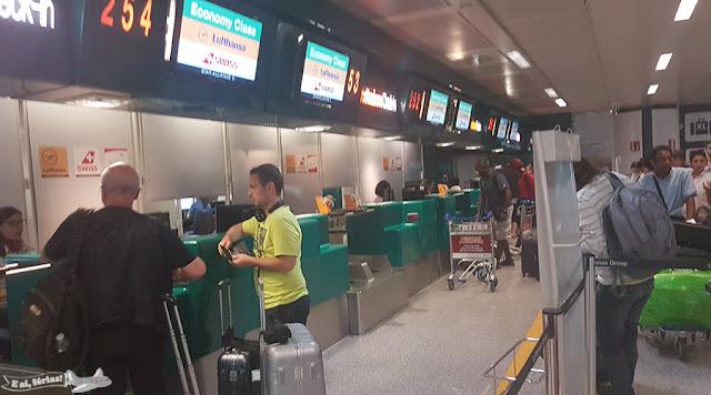 Lufthansa no Fiumicino, em Roma