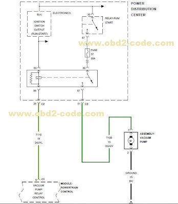 electric vacuum pump wiring diagram brake vacuum pump wiring diagram p258a electric vacuum pump circuit - obd2-code.com #1