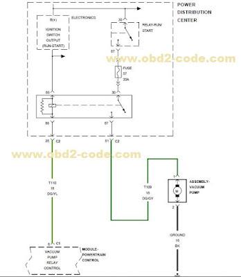 P258A Electric Vacuum Pump Circuit  Obd2code