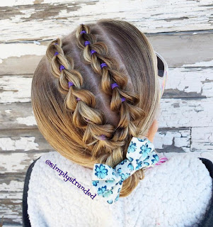 party hair up with braids