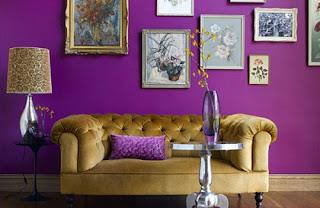 diseño de sala violeta