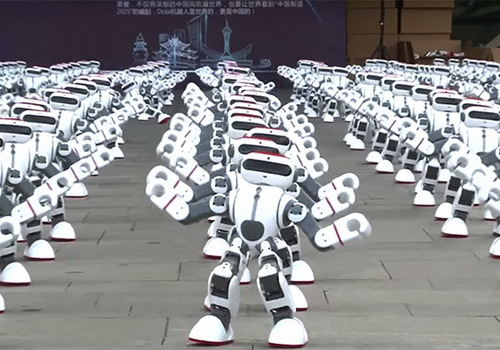 Tinuku 1,069 Dobi robot dances broke the world record