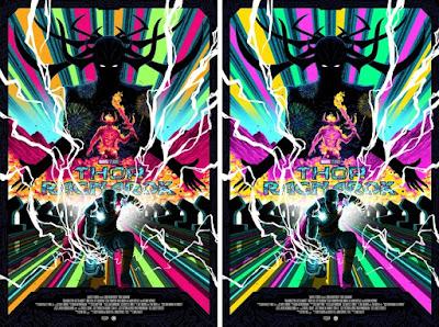 Thor: Ragnarok Movie Poster Screen Print by Florey x Grey Matter Art x Marvel