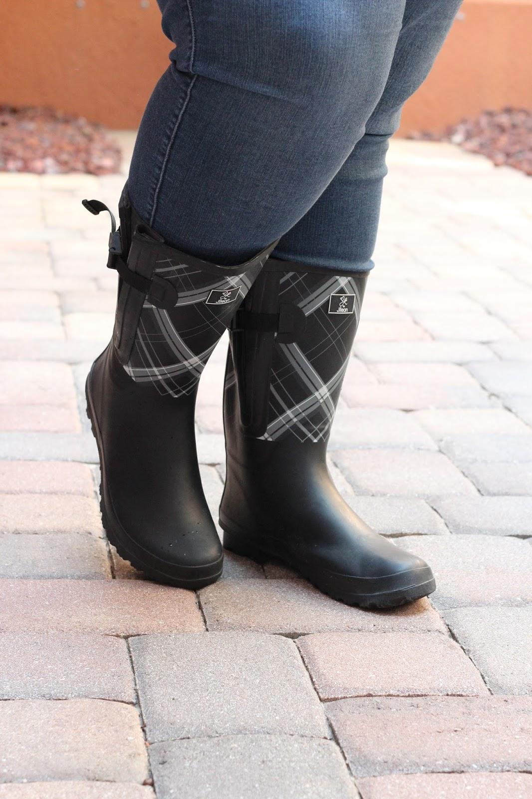 36820bb6774e Jessica Kane x Jileon Rainboots - Super Wide Calf Rain Boot - Life ...