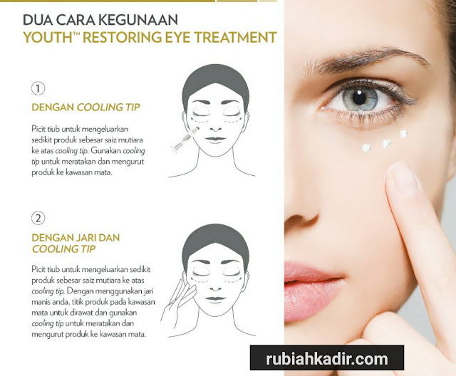 Cara Penggunaan Youth Restoring Eye Treatment