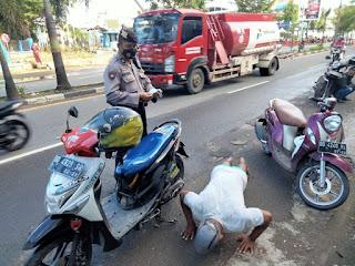 Operasi Yustisi Polres Pelabuhan Makassar, Warga dihukum Push Up dan bersihkan fasilitas Umum