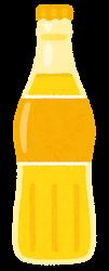 瓶に入った飲み物のイラスト(黄色)