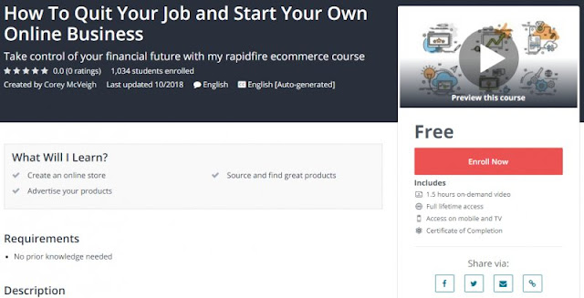 [100% Free] How To Quit Your Job and Start Your Own Online Business