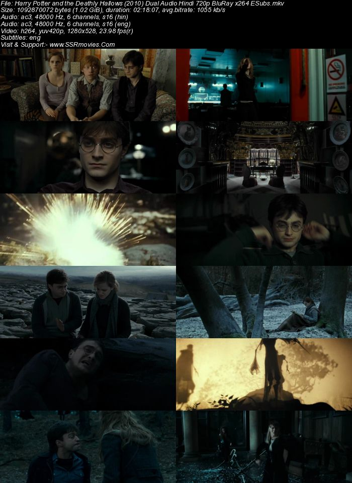 Harry Potter 7 - Part 1 (2010) Dual Audio Hindi 720p BluRay x264 ESubs Movie Download