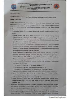 Press Release COVID-19 Tarakan 1 Mei 2020 - Tarakan Info
