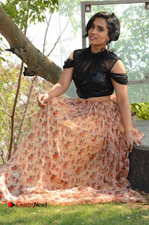 Actress Chetana Uttej Stills in Floral Long Skirt at Pichiga Nachav Movie Press Meet  0087.JPG