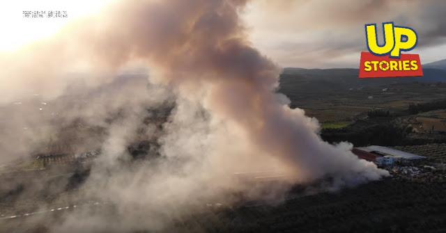 Κόλαση από τοξικό νέφος της πυρκαγιάς στην Κορινθία
